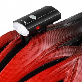 WEST BIKING Lampu Sepeda LED Rechargeable 300 Lumens - B1 - Black - 6