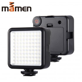 MAMEN Mini Fill Light Portable Lampu Kamera Video 81 LED Beads 6000K - W81 - Black