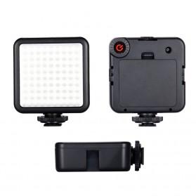 MAMEN Mini Fill Light Portable Lampu Kamera Video 81 LED Beads 6000K - W81 - Black - 3
