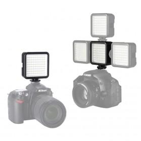 MAMEN Mini Fill Light Portable Lampu Kamera Video 81 LED Beads 6000K - W81 - Black - 4