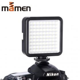 MAMEN Mini Fill Light Portable Lampu Kamera Video 81 LED Beads 6000K - W81 - Black - 5
