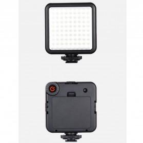 MAMEN Mini Fill Light Portable Lampu Kamera Video 81 LED Beads 6000K - W81 - Black - 6