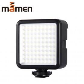MAMEN Mini Fill Light Portable Lampu Kamera Video 81 LED Beads 6000K - W81 - Black - 2