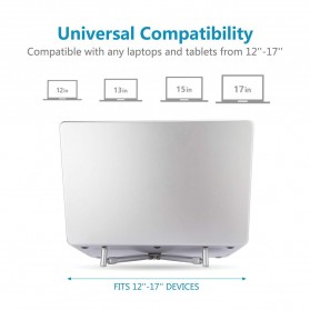 Universal X Stand Folding Holder Cooling Pad Laptop 17 Inch - F2056 - Silver - 3