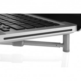Universal X Stand Folding Holder Cooling Pad Laptop 17 Inch - F2056 - Silver - 4
