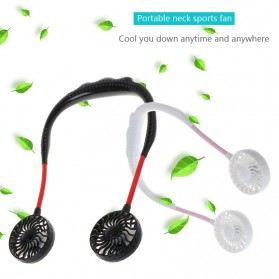 Morries Free On Kipas Angin Sport Hand Free Lazy Neck Fan USB Portable - LZ-F1 - Black - 6
