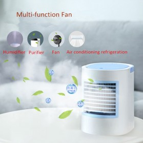 KBAYBO Kipas Cooler USB Oval Mini Air Conditioner 350ml with 7 Color LED Light - WT-F11 - Gray - 5