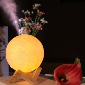 Taffware Air Humidifier Aromatherapy Oil Diffuser Lampu Tidur Simulation 3D Moon Night Light Ultrasonic - Humi AX-08 - White - 2