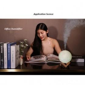 Taffware Air Humidifier Aromatherapy Oil Diffuser Lampu Tidur Simulation 3D Moon Night Light Ultrasonic - Humi AX-08 - White - 7