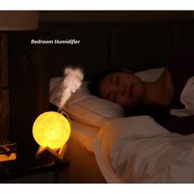 Taffware Air Humidifier Aromatherapy Oil Diffuser Lampu Tidur Simulation 3D Moon Night Light Ultrasonic - Humi AX-08 - White - 8