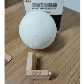 Taffware Air Humidifier Aromatherapy Oil Diffuser Lampu Tidur Simulation 3D Moon Night Light Ultrasonic - Humi AX-08 - White - 11