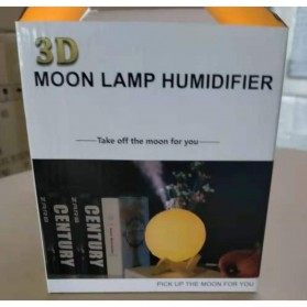 Taffware Air Humidifier Aromatherapy Oil Diffuser Lampu Tidur Simulation 3D Moon Night Light Ultrasonic - Humi AX-08 - White - 13