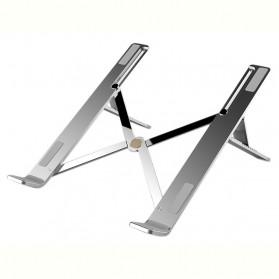 Basegad Cooling Pad Laptop Stand Folding Holder Bracket - H3 - Silver