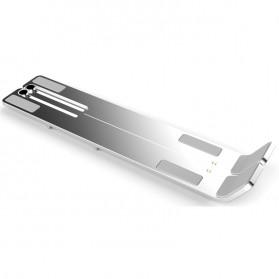 Basegad Cooling Pad Laptop Stand Folding Holder Bracket - H3 - Silver - 2