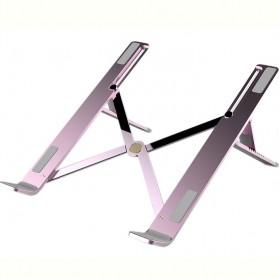 Basegad Cooling Pad Laptop Stand Folding Holder Bracket - H3 - Silver - 3