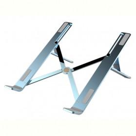 Basegad Cooling Pad Laptop Stand Folding Holder Bracket - H3 - Silver - 4