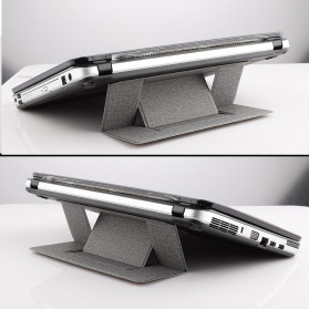 Yinkuu Stand Holder Laptop Lipat Foldable Bracket with Magnet - A4 - Black - 2