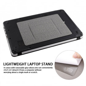 Yinkuu Stand Holder Laptop Lipat Foldable Bracket with Magnet - A4 - Black - 3