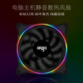 Aigo V1 CPU Fan Cooler Cooling Case Rainbow RGB LED 120mm - Black - 3