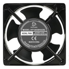 KunPeng Kipas Heatsink CPU Fan 120mm 220V 0.14A - 12038 - Black