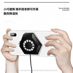 AMOI X1 Smartphone Cooling Fan Kipas Pendingin Radiator Heat Sink - Black - 2