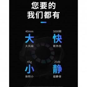 AMOI X1 Smartphone Cooling Fan Kipas Pendingin Radiator Heat Sink - Black - 5