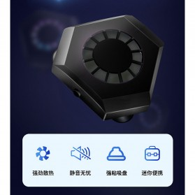 AMOI X1 Smartphone Cooling Fan Kipas Pendingin Radiator Heat Sink - Black - 9