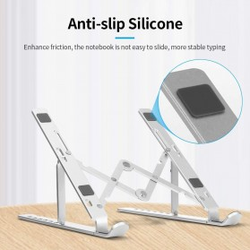 Docooler Laptop Stand Lipat Aluminium Foldable Adjustable 7 Level - N7 - Silver - 4