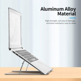 Docooler Laptop Stand Lipat Aluminium Foldable Adjustable 7 Level - N7 - Silver - 5