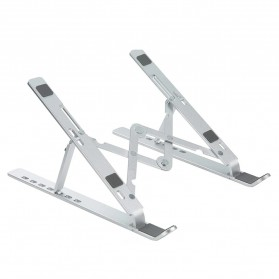 OUTMIX Laptop Stand Aluminium Foldable Adjustable 7 Height - LSP7 - Silver