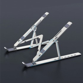 OUTMIX Laptop Stand Aluminium Foldable Adjustable 7 Height - LSP7 - Silver - 2