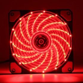 Ninth World CPU Fan Cooler Cooling Case Anti Vibration 15 LEDs 120mm - Black/Red - 5