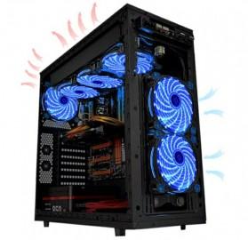 Ninth World CPU Fan Cooler Cooling Case Anti Vibration 15 LEDs 120mm - Black/Red - 6