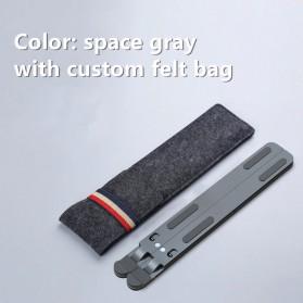 FGH Laptop Stand Aluminium Foldable Adjustable 11-17 Inch - P11 - Deep Gray