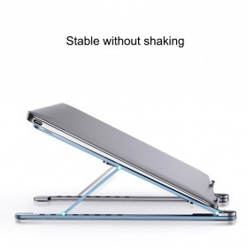 FGH Laptop Stand Aluminium Foldable Adjustable 14-17.3 Inch - P4 - Silver - 4
