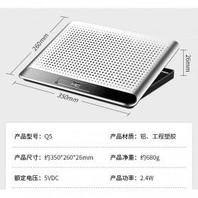 MC Cooling Pad Laptop Radiator Base 1 Fan - Q5 - Black - 11