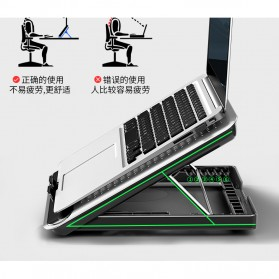 MC Cooling Pad Laptop Radiator Base 1 Fan - Q5 - Black - 4