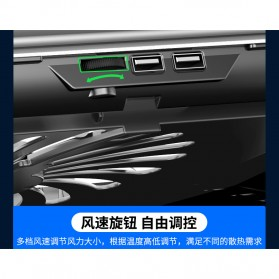 MC Cooling Pad Laptop Radiator Base 1 Fan - Q5 - Black - 5