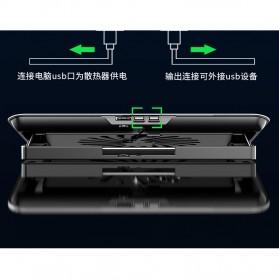 MC Cooling Pad Laptop Radiator Base 1 Fan - Q5 - Black - 9