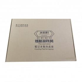 MC Cooling Pad Laptop 5 Fan - Q7 - Black/Blue - 11