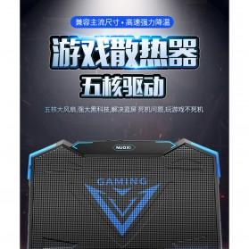 MC Cooling Pad Laptop 5 Fan - Q7 - Black/Blue - 5