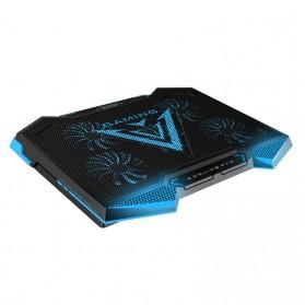 MC Cooling Pad Laptop 5 Fan - Q7 - Black/Blue - 6