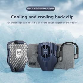 MEMO Smartphone Cooling Fan Kipas Pendingin Radiator Heat Sink USB Type C - DL02 - Blue - 1