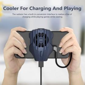 MEMO Smartphone Cooling Fan Kipas Pendingin Radiator Heat Sink USB Type C - DL02 - Blue - 2