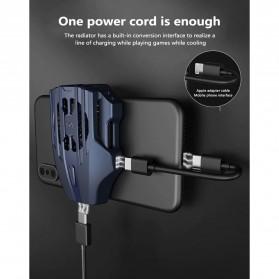MEMO Smartphone Cooling Fan Kipas Pendingin Radiator Heat Sink USB Type C - DL02 - Blue - 3