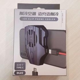 MEMO Smartphone Cooling Fan Kipas Pendingin Radiator Heat Sink USB Type C - DL02 - Blue - 10