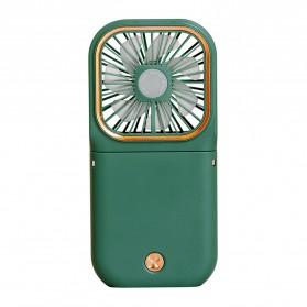 Livews Kipas Angin Portable Handheld Foldable Smartphone Holder with Powerbank 3000mAh - F30 - Green