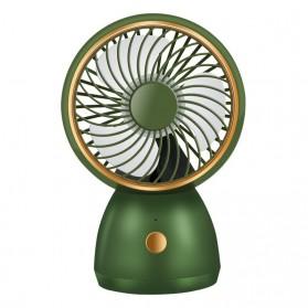 WUXEY Kipas Angin Meja Mini Desktop Fan Portable USB Type C - F1 - Green