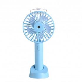 HUANJI Kipas Angin Meja Humidifying Spray Portable Fan - HG-F168 - Blue