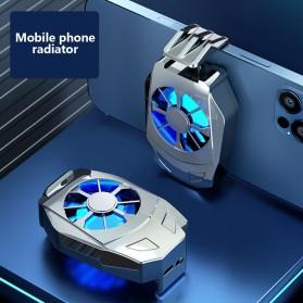 Willkey Smartphone Cooling Fan Kipas Pendingin Radiator Heat Sink Micro USB - L02 - Silver